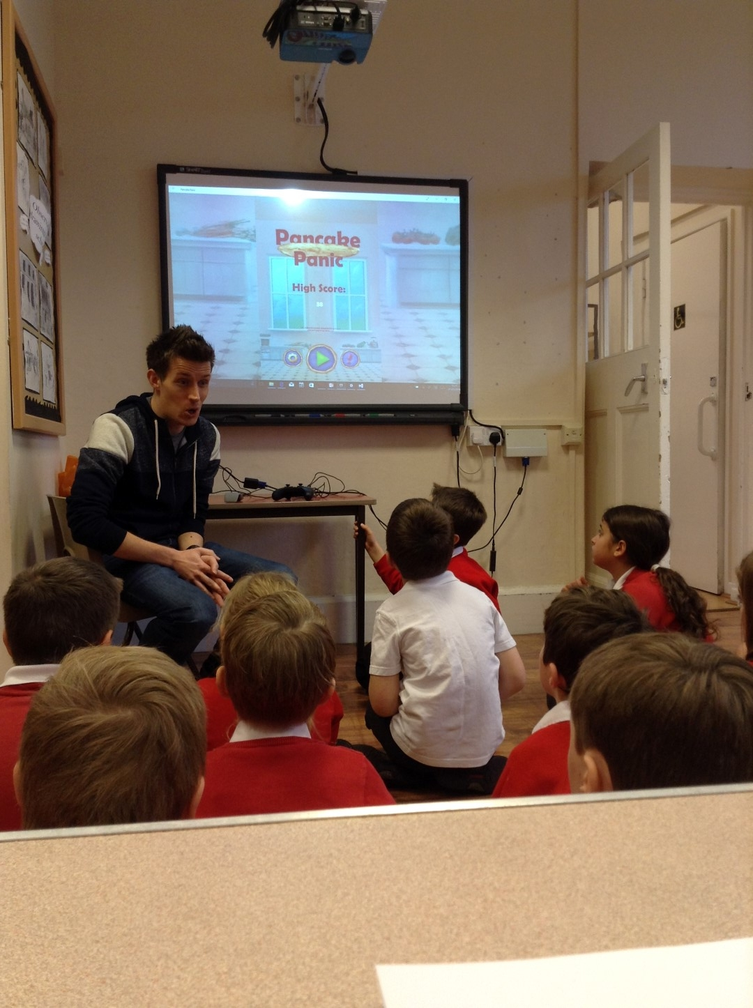 Our Coding Games Workshop with Leigh on Mendip First School